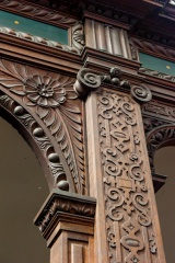Gallery carving detail