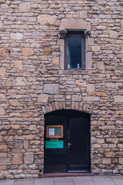 St Mary's Guildhall photo, A medieval door and window