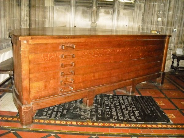 St Mary Redcliffe, Bristol photo, Medieval cope chest