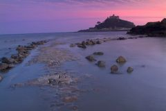 St Michael's Mount, Sunset over the causeway