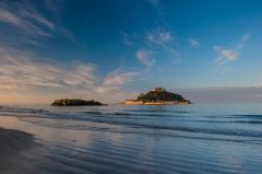 St Michael's Mount, Morning at Mounts Bay