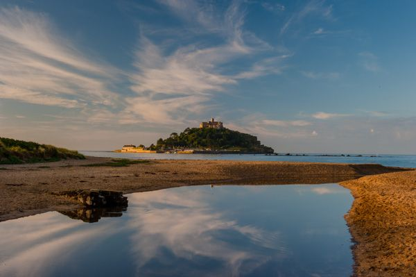 Mount's Bay photo, Marazion beach and St Michael's Mount