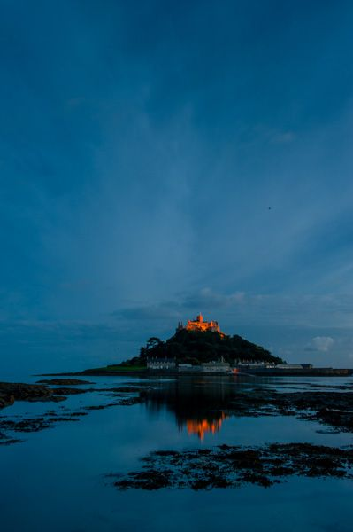 St Michael's Mount photo, Night falls on St Michael's Mount