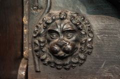 Misericord carving of a lion