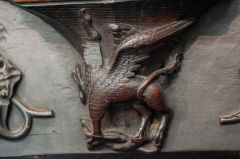 Misericord of a gryphon