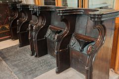 Chancel seats with misericords