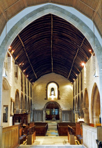 Newport, St Woolos Cathedral  photo, Looking west down the central aisle