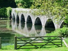 Eight-arched bridge across the lily ponds (c) Peter Levy
