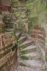 Remains of a spiral stair within the walls