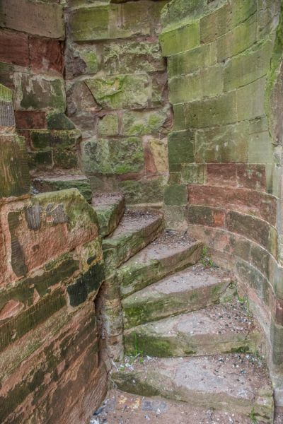 Stafford Castle photo, Remains of a spiral stair within the walls