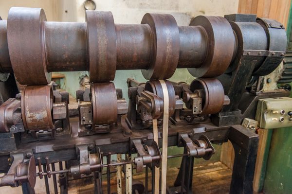 Stanley Mills photo, Carding machinery up close!