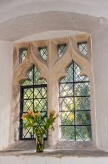 15th century window, north nave wal