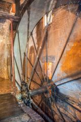 Stanway Watermill, The cast iron water wheel