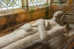 Stanwick. St John's Church, Medieval Catterick effigy