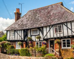 An attractive timber-framed house