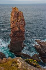 The sea stack from above
