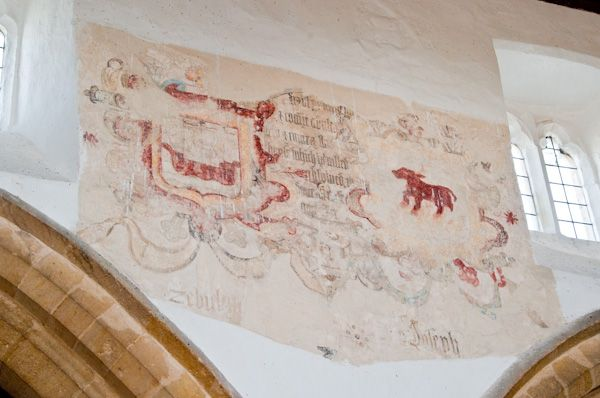 Stoke Dry, St Andrew's Church photo, Wall paintings in nave