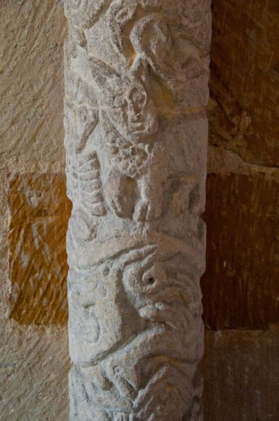 Stoke Dry, St Andrew's Church photo, Norman column