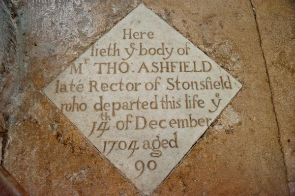 Stonesfield, St James the Great Church photo, 18th century Memorial slab