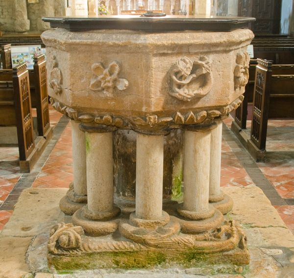Stow photo, The Minster font