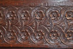Tudor carved panelling