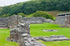 Strata Florida Abbey, Piers in the church ruins