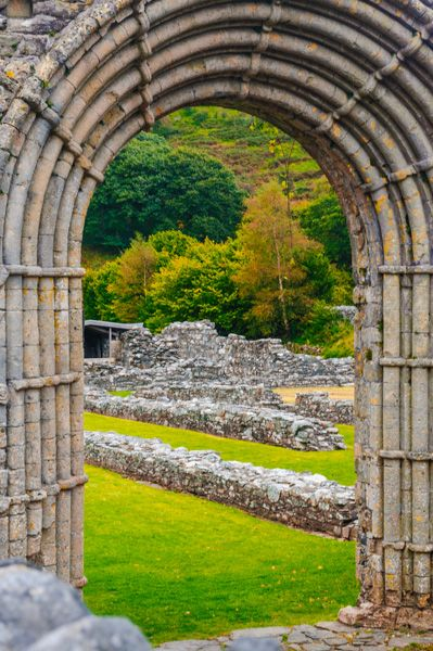 Strata Florida Abbey photo, The 13th century west doorway