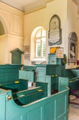 Restored Georgian box pews