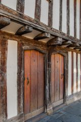 The timber-framed exterior