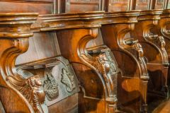 Medieval misericords in the chancel