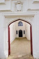 The main entrance archway