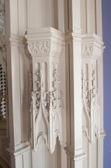 Strawberry Hill House, Woodwork detail, Holbein Room