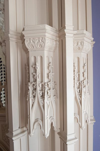 Strawberry Hill House photo, Woodwork detail, Holbein Room