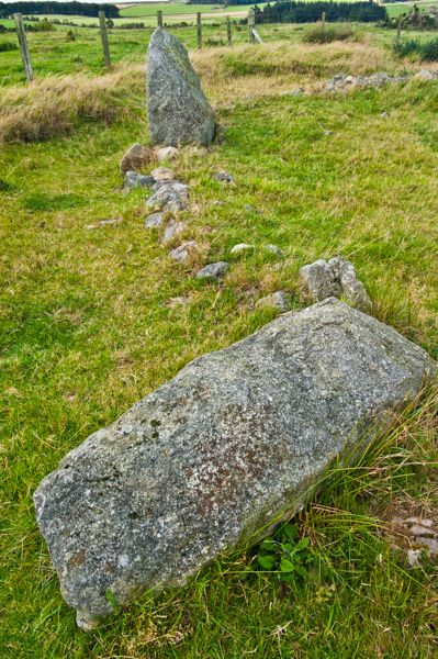 Strichen Stone Circle photo, Fallen stone