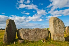 Strichen stone circle, recumbent stone and flankers