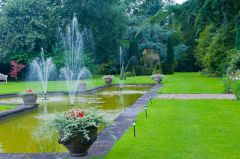 Fountains in the formal garden