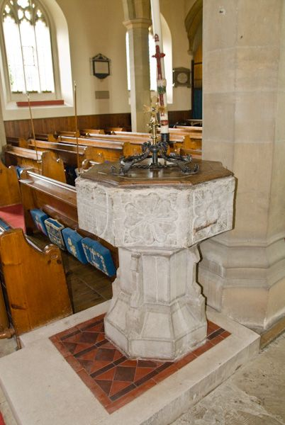 Sutton Valence, St Mary photo, The font