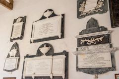 Sutton Veny, St Leonards Church, Memorials on the south chancel wall