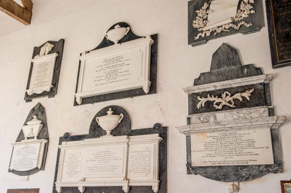 Sutton Veny, St Leonards Church photo, Memorials on the south chancel wall