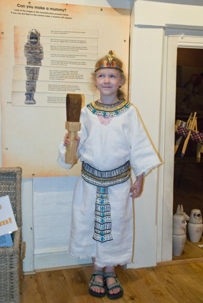 Swaffham photo, Dressing up in Egyptian style in the museum