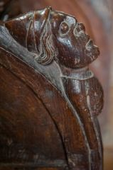 15th century carving, choir stall