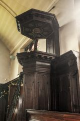 The 17th century pulpit and sounding board