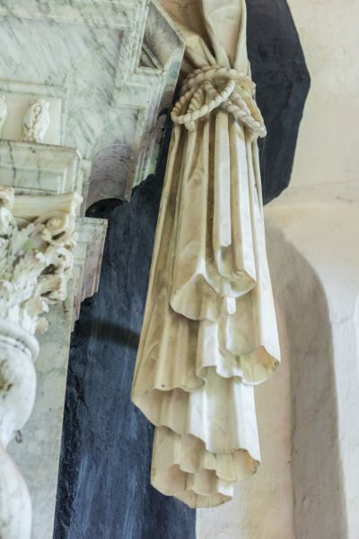 Talbot Chapel photo, Draped fabric in stone