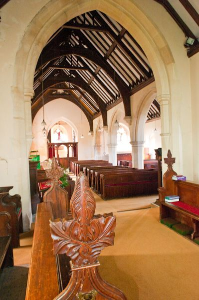 Tarrant Keynston, All Saints Church photo, Looking from the chancel into the nave