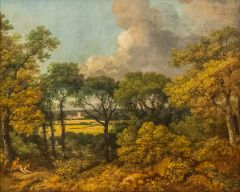 Wooded Landscape with a Peasant Resting, by Thomas Gainsborough, 1747