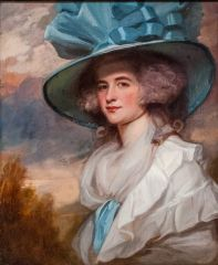 Mrs Robert Trotter of Bush, by George Romney, 1788