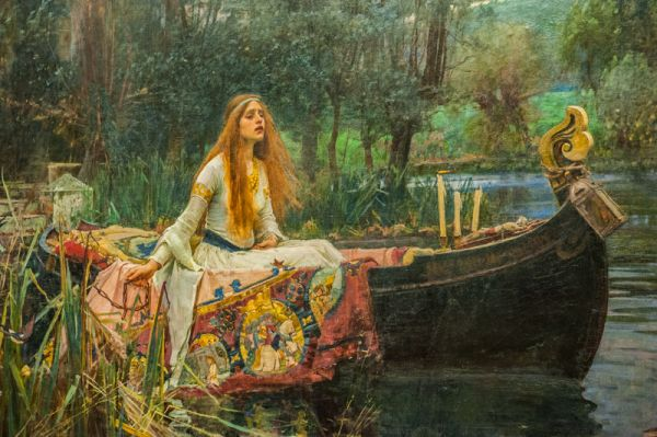 Tate Britain photo,  The Lady of Shalott, by JW Waterhouse, 1888