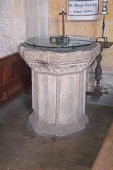 Temple Guiting, St Mary's, The 15th century font