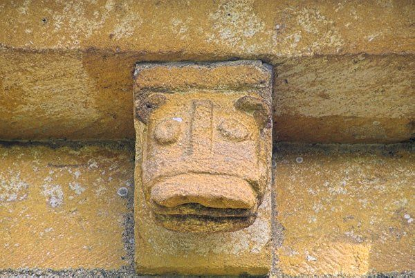 Temple Guiting, St Mary's photo, Corbel head of a beast