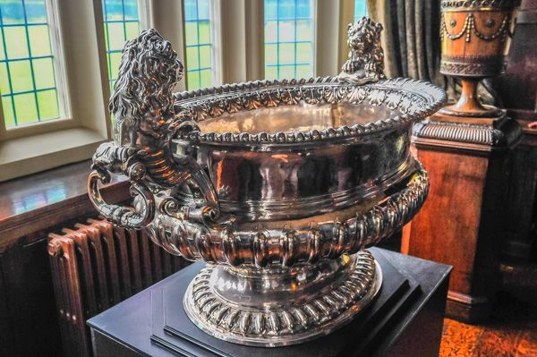Temple Newsam House photo, 18th century Earl of Stafford silver wine cooler
